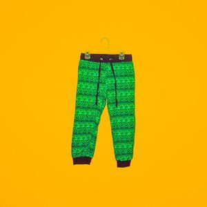 Green Tribal Capri Joggers